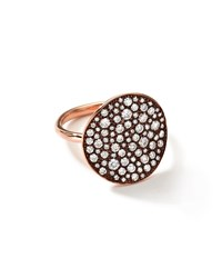 18K Rose Gold Stardust Flower Ring With Diamonds Ippolita Pink