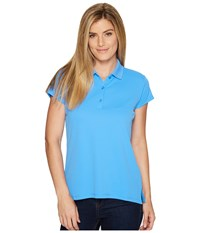 Columbia Innisfree S S Polo Harbor Blue Women's Short Sleeve Pullover