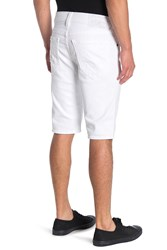True Religion Ricky Core Denim Shorts White