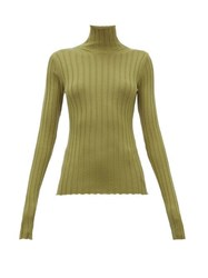 Petar Petrov Karen Merino Wool High Neck Sweater Green