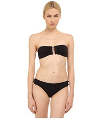 Proenza Schouler Barbell Trim Bandeau Top W Low Waisted Bottom Black