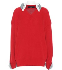 Undercover Cotton Sweater Red
