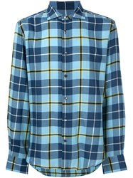 Ermanno Scervino Checked Casual Shirt Blue