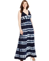 Inc International Concepts Plus Size Tie Dyed Maxi Dress Lavish Tie Dye