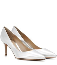 Gianvito Rossi Exclusive To Mytheresa.Com 70 Metallic Leather Pumps Silver
