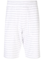Loveless Striped Patch Pocket Shorts White