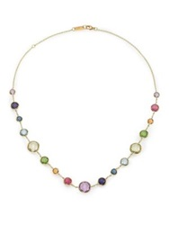 Ippolita Rock Candy Rainbow Semi Precious Multi Stone And 18K Yellow Gold Lollitini Short Station Necklace