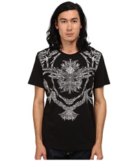 Just Cavalli Short Sleeve Feather Flame Graphic Slim Fit Tee