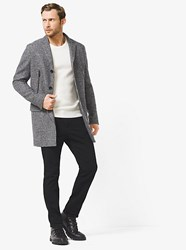 Michael Kors Double Face Houndstooth Wool And Nylon Jacket Grey