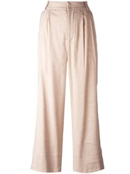 Isabel Marant Flared Tailored Trousers Nude Neutrals
