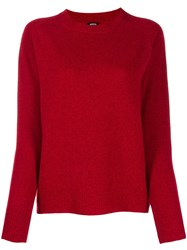 Aspesi Relaxed Fit Crew Neck Jumper Red