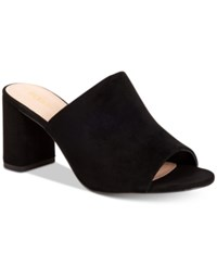 Bcbgeneration Beverly Block Heel Mules Women's Shoes Black