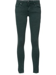 Ag Jeans Super Skinny Cropped Green