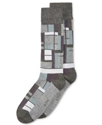Alfani Men's Star Grid Socks Only At Macy's Tonal