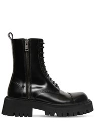 Balenciaga 55Mm Tractor Leather Boots Black