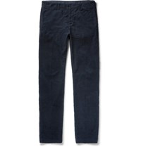 Massimo Alba Cotton Corduroy Trousers Blue