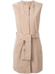 Drome Belted Gilet Nude Neutrals