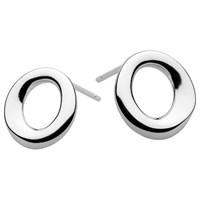 Kit Heath Sterling Silver Bevel Cirque Small Stud Earrings Silver
