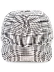 A.P.C. Checked Baseball Cap White