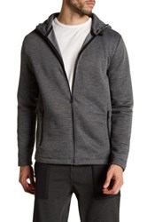 Kenneth Cole Ottoman Front Zip Hoodie Gray