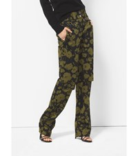 Floraflage Cotton Sateen Utility Trousers