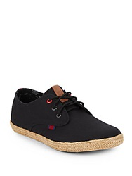 Ben Sherman Pril Espadrille Lace Up Black
