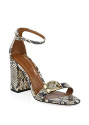 Coach Maya Ankle Strap Leather Sandals Natural