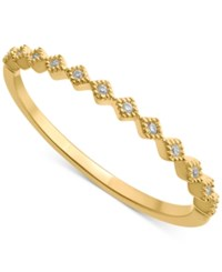 Macy's Diamond Accent Stackable Band In 14K Gold White Gold Or Rose Gold Yellow Gold