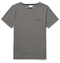 Saturdays Surf Nyc Striped Cotton Jersey T Shirt Black