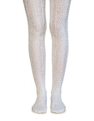 Lemon Embroidered Tights Oat