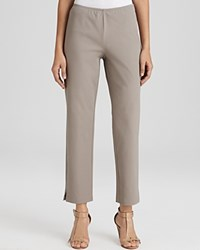 Eileen Fisher Organic Stretch Cotton Twill Slim Ankle Pants Stone