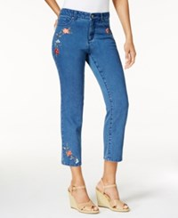Charter Club Bristol Embroidered Capri Jeans Only At Macy's Lyon Wash