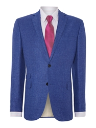 Corsivo Elvino Textured Linen Blazer Bright Blue