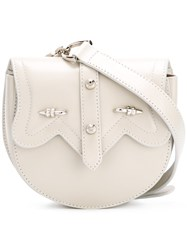 Okhtein Dome Belt Bag Women Leather One Size Grey