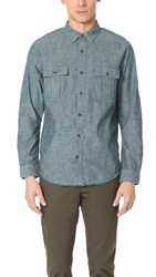Vince Distressed Utility Shirt Rinse Wash