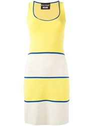 Boutique Moschino Scoop Neck Knitted Dress Yellow Orange