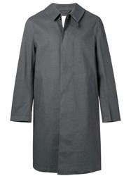 Mackintosh Teal Grey Bonded Cotton 3 4 Coat Gr