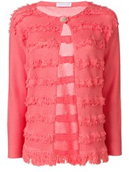 Fabiana Filippi Embroidered Fitted Cardigan Pink And Purple