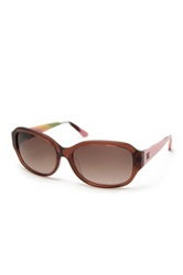 M Missoni Women's Squared Acetate Frame Sunglasses Brown