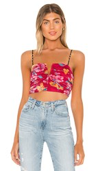 Lovers Friends Doheny Top In Pink. Tropical Print