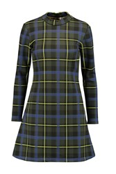 Etre Cecile Plaid Bonded Jersey Dress Green
