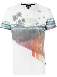 Just Cavalli Beach Print T Shirt White