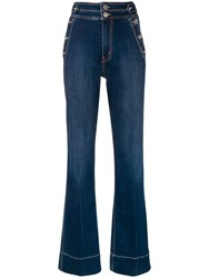 Current Elliott High Waisted Jeans Blue