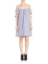 Elle Sasson Poppy Cotton Dress Navy White Stripe