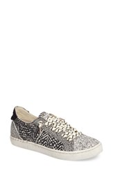 Dolce Vita Women's Z Punk Sneaker Black White Nubuck Leather