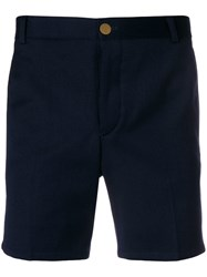Thom Browne Rwb Stripe Straight Leg Short Blue