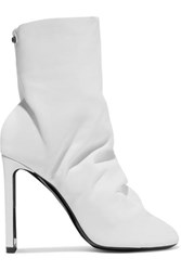 Nicholas Kirkwood D'arcy Leather Ankle Boots White