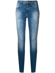 Closed Stonewashed Slim Fit Jeans Blue