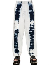 Mm6 Di Maison Margiela Tie Dye Printed Cotton Jeans