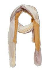 Stefanel Colour Block Scarf Yellow